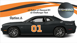Dukes Of Hazzard General Lee Door Decal Sticker 01 Decal Kit Side Text