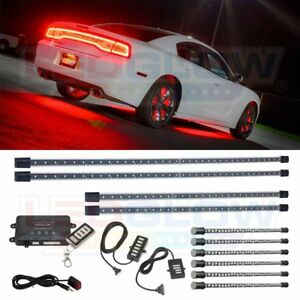 Ledglow 10pc Red Underbody Glow Car Led Neon Lights W 6 Interior Tubes Included