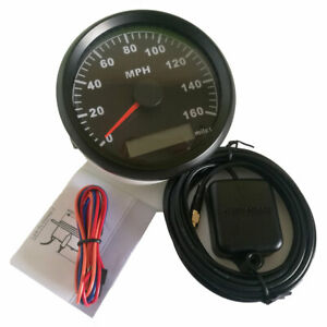 85mm Stainless Black Gps Speedometer 0 160 Mph For Car Truck Motorcycle Us Stock