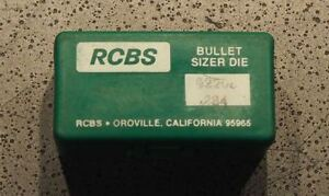 RCBS .284 Lube Sizer Die-(82208) NOS wTop Punch #531