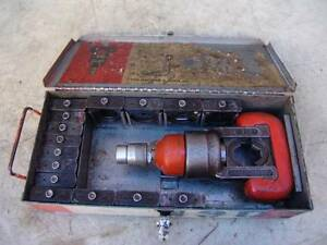 Thomas Betts 12 Ton Hydraulic Crimper Loaded With Dies Works Fine 2