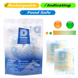 10 Gram X 500 Pk dry Dry Food Grade Orange Indicating Silica Gel Packets