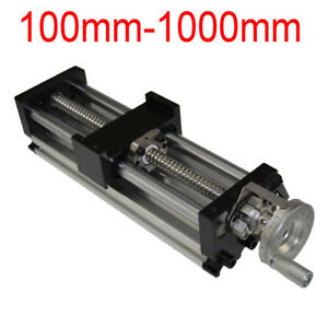 100 1000mm Manual Sliding Table Ball Screw Linear Stage Cnc Slide Stroke New