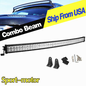 52 Inch Curved Led Light Bar Spot Flood Offroad Driving For Ford 4x4 700w Boat