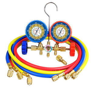 Universal Manifold Gauge Charging Set 3 36 Hoses For R22 R404a R410a