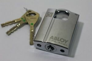 Abloy 342 Keyed Padlock Shrouded High Security Lock Pl342 3 8 In Dia 1in H