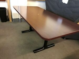 Conference Table In Mahogany Color Laminate 6ft L