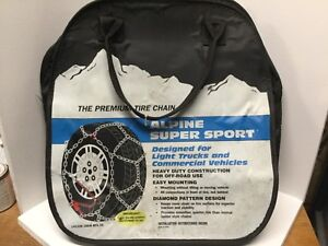 Alpine Super Sport Tire Chains Light Truck Commercial Premium 2519 Laclede R30