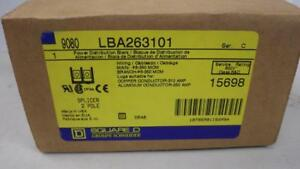 Square D Power Distribution Block 9080 Lba263101 2 Pole 6 350 Mcm Usa Seller