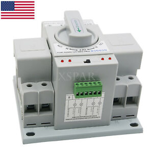 Automatic Transfer Switch Dual Power 2p 63a 150 138 115mm Toggle Switch 110v Usa