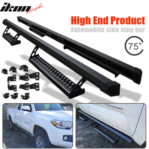 Fits 16 19 Toyota Tacoma Access Cab Running Boards Black