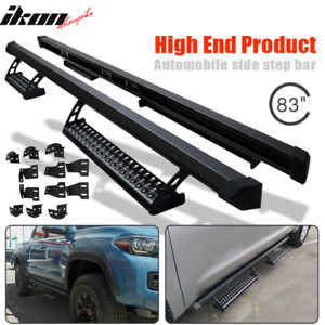 Fits 16 19 Toyota Tacoma Double Running Boards Nerf Bars