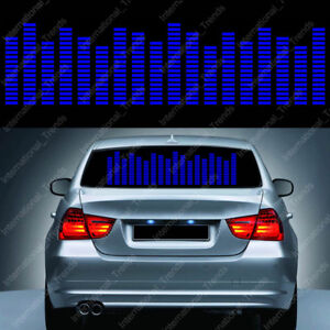 Sound Activated Car Music Rhythm Led Flash Light Sticker Sound Equalizer 90 25