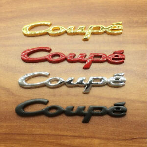 Coupe Logo Car Emblem Metal Badge Auto Tailgate Rear For Genesis Coupe