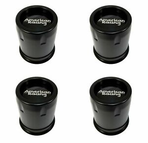4 American Racing Black Center Caps 5 6l Ar901 Ar23 Ar910 Ar969 Ansen Offroad