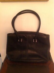 Genuine Soft Leather Laptop Tote Bag By Levenger