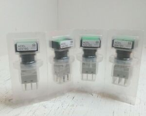 Lot Of 4 Matsushita Green Light Push Button Switch Acel 42419g New