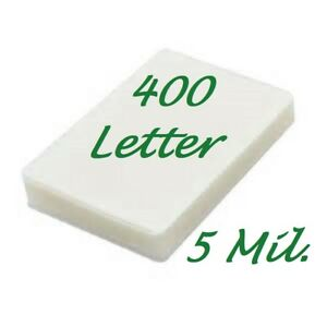 400 Letter Laminating Pouches Laminator Sheets 9 X 11 1 2 5 Mil Scotch Quality