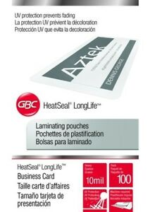 500 Gbc Business Card 10 Mil Hot Laminating Pouches 2 1 4 X 3 3 4 Sleeve