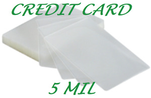 25 Credit Card Laminating Pouches Laminator Sleeves 2 1 8 X 3 3 8 5 Mil Quality