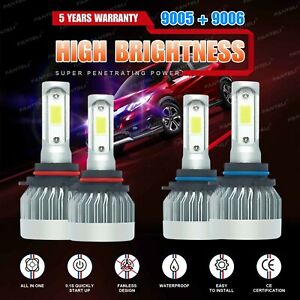 9005 9006 6000k 3020w 453000lm Combo Cree Led Headlight Kit High Low Lamp Bulbs