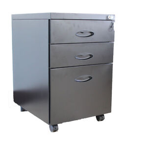 3 drawer Metal Mobile File Cabinet Filing Home Office Furniture Fully Assembled