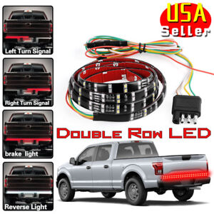 60 Double Led Truck Tailgate Light Bar Strip For Ford F 150 F 250 F 350 F 450