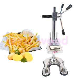 Manual French Fry Cutter Machine Carrot Cucumber Potato 3 Stainless Steel Blade