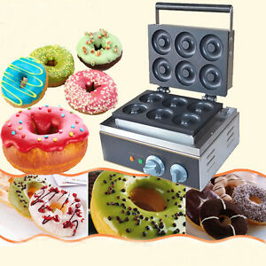 110v Commercial Donut Machine Maker Automatic Home Electric Waffle Making 1 5kw