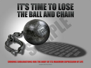Chiropractic Philosophy Poster Subluxation Ball And Chain