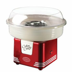 Electric Commercial Retro Cotton Candy Maker Machine With Flossing Cones Red New