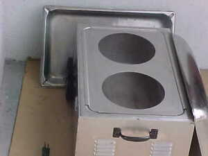 Tabletop Food Warmer Steam W Adapter Plate For Round Insert