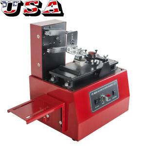 Electric Pad Printer Printing Machine T shirt Screen Printing Labeling Us Stock