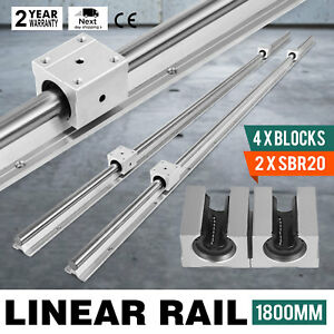 Sbr20 1800mm 2 X Linear Rail 4 X Bearing Blocks 4 Blocks Slide Guide Stable