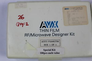 Avx Accu p1210kit02 Thin Film Capacitor Rf Designer Kit 1 0pf 33pf Smd As Is