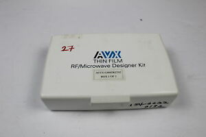 Avx Accu l0603kit02 Thin Film Inductor Rf Designer Kit Smd Value Missing as Is