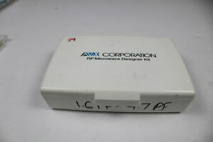 Avx Smd Capacitor Rf microwave Designer Kit 1 6pf 4 7pf as Is