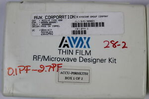Avx Accu p0805kit02 Thin Film Capacitor Rf Designer Kit 0 1pf 47pf as Is