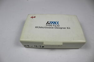 Avx Smd Capacitor Rf microwave Designer Kit Value Missing as Is