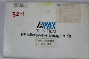 Avx Accu p0603kit01 Thin Film Capacitor Rf Designer Kit 0 1pf 22pf as Is