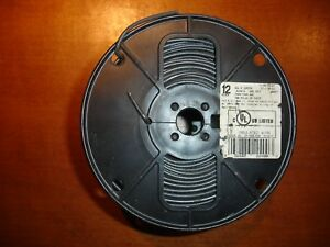 12 Solid Copper 440ft Black T90 Nylon Twn75 Ym 680 590 Insulated Wire Thhn t
