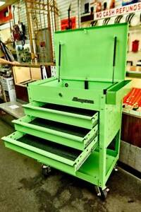 Snap On Roll Cart 3 Drawers Extreme Green