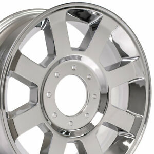 20x8 Wheels Fit Hd Ford Truck F250 f350 Chrome Rims 3693 W1x Set