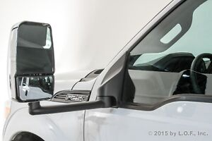 Fits F250 F350 Towing Driver Power Chrome Heat Side View 102 Body Mirror