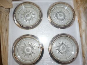 Silver Plated Coaster Set