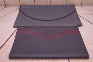 Lot Of 2 Genuine Leather Executive Binder file Folder