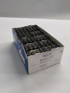 Lot Of 10 Idec Rh4b u Ice Cube Relays 24vdc Coil 120vac 10a Contacts Sh4b 05c