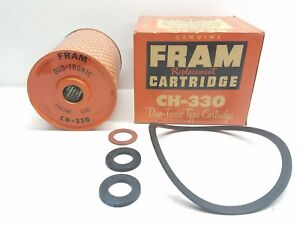 Vintage 1960 S Nos Fram Replacement Cartridge Ch 330 Oil Filter Duo Tronic