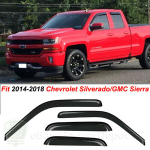 For 2014 16 2017 2018 Chevrolet Silverado 1500 Window Visor Extended double Cab