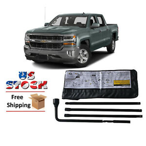 Spare Tire Tool Kit With Case Heavy Duty For Chevy Silverado 1500 2500